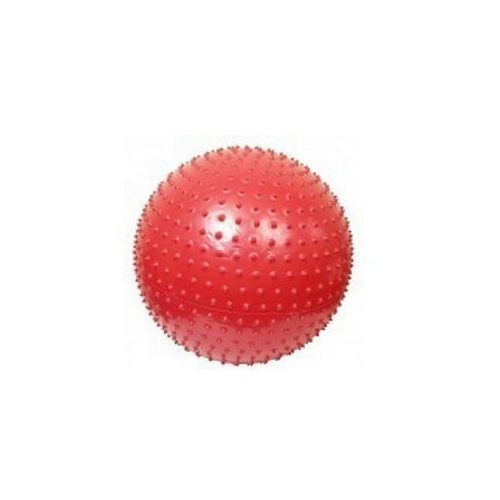 ATHLETIC24 Massage 65 czerwona - Piłka do masażu z kolcami - Czerwony