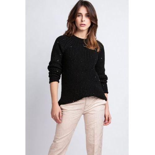 kriss swe 076 czarny sweter, Mkmswetry