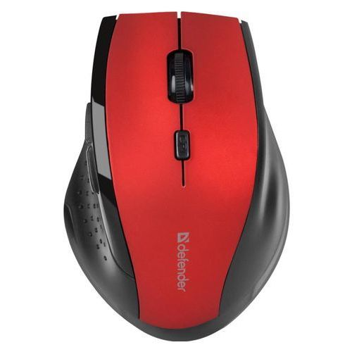 Mysz bezprzewodowa accura mm-365 optyczna 1600dpi 6p czerwona marki Defender