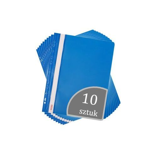 Biurfol Skoroszyt a4 wpinany do segregatora pvc 10 sztuk - niebieski (2501234503087)