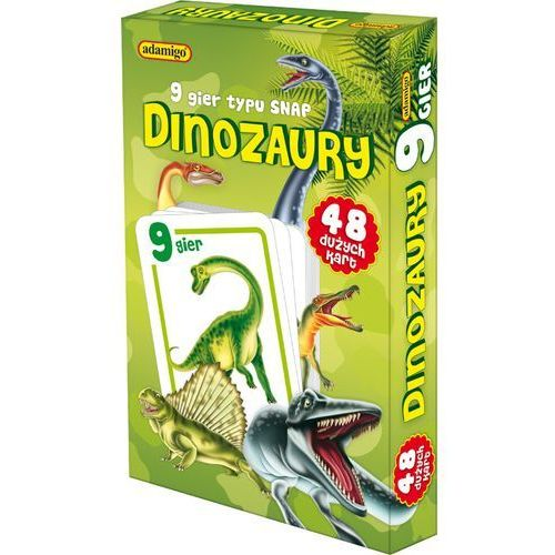 ADAMIGO Gra Karty Snap Dinozaury, towar z kategorii: Gry karciane