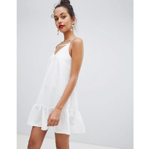 swing dress with cami straps in white - white marki River island