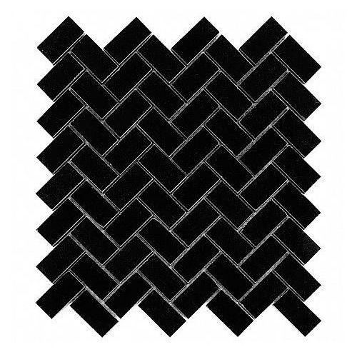 DUNIN B&W Black & White mozaika kamienna Pure Black Herringbone 48