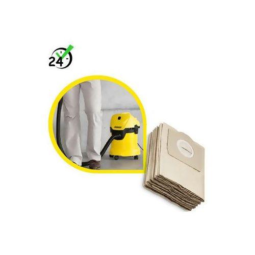 Worki papierowe (5szt) do wd/mv/se, ✔autoryzowany partner karcher ✔karta 0zł ✔pobranie 0zł ✔zwrot 30dni ✔raty ✔gwarancja d2d ✔wejdź i kup najtaniej marki Karcher