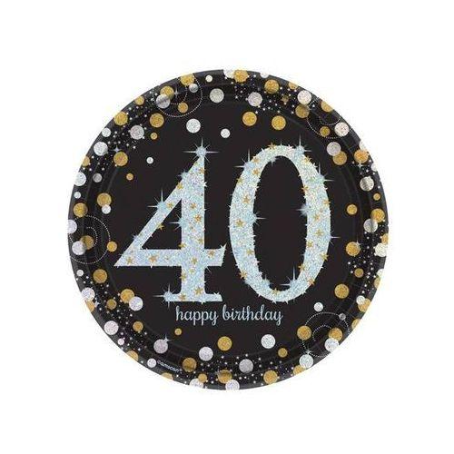 Talerzyki na czterdzieste urodziny - 23 cm - 8 szt. (0013051589257)