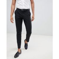 Burton menswear skinny fit smart trousers in black - black