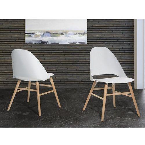 Krzesło do jadalni białe MILFORD, kolor biały