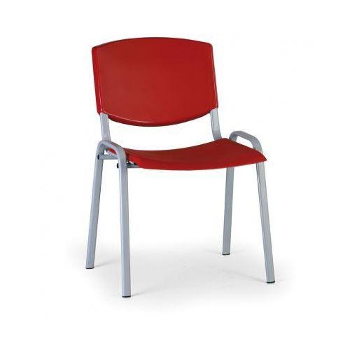 Krzesło konferencyjne Smile, czerwony - kolor konstrucji szary