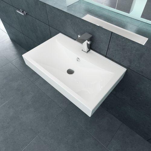 vidaXL Luksusowa umywalka prostokątna 60 x 46 cm z otworem na kran