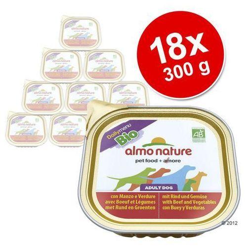 ALMO NATURE Daily Menu BIO Dog Cielęcina z warzywami - szalka 300g (8001154122459)