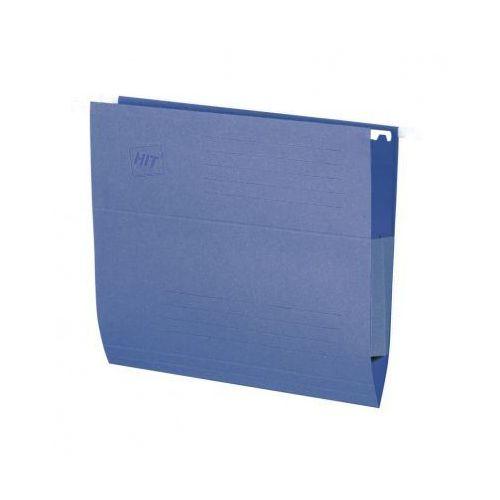 Hit office Teczki zawieszane z bocznymi zabezpieczeniami, niebieske, 50 szt.