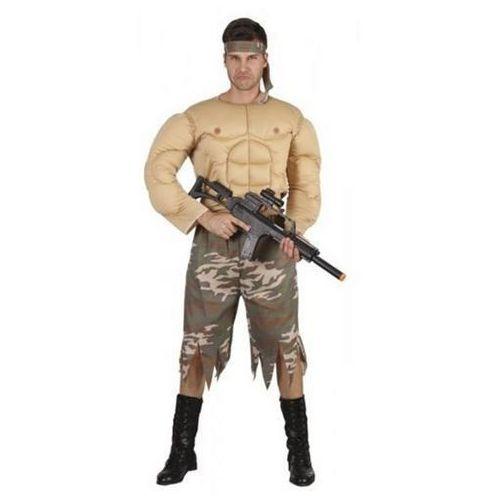 Żołnierz umięśniony - 54/56 strój dla dorosłych