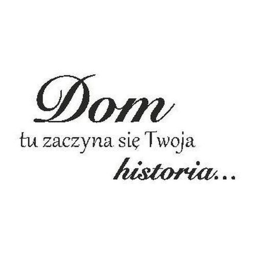 Naklejka Historia 100 x 50 cm czarna