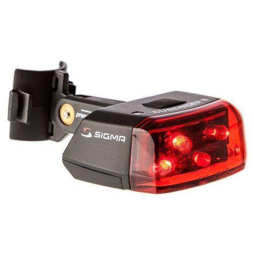 Sigma sport cuberider ii reflektor tylny led, black/red 2020 oświetlenie rowerowe - zestawy