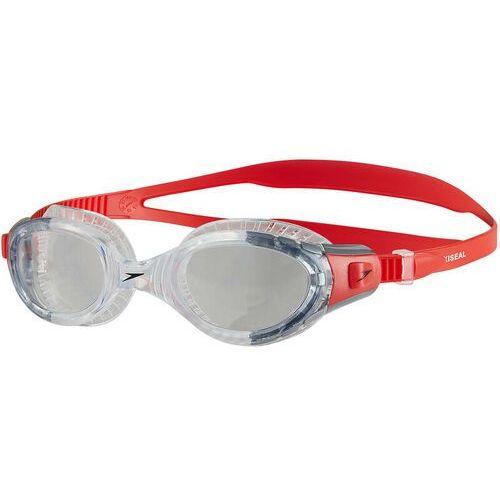 speedo Futura Biofuse Flexiseal Okulary pływackie szary/czerwony 2018 Okulary do pływania