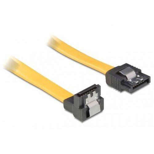 Delock Kabel SATA II 3Gb/s 30cm kątowy dół/prosto (metalowe zatrzaski) żółty DARMOWA DOSTAWA DO 400 SALONÓW !! - produkt z kategorii- Kable, taśmy i przejściówki