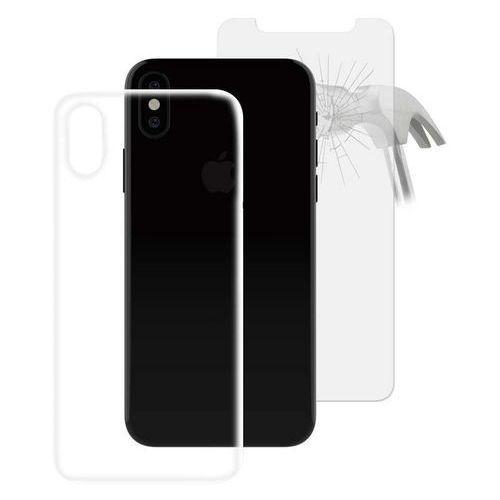 PURO 0.3 Nude - Etui iPhone X (przezroczysty) + Szkło ochronne hartowane na ekran iPhone X (8033830196720)