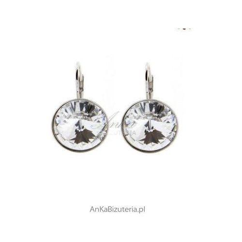 """Anka biżuteria """"magia prostoty"""" srebrne kolczyki z kryształami swarovski"""