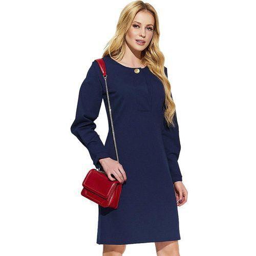 sukienka damska 38 ciemnoniebieska marki Makadamia