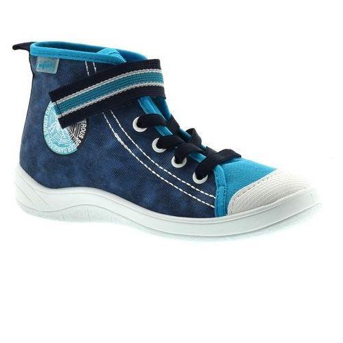 Trampki dla dzieci Befado 268Y061 Tim - Niebieski   Granatowy, kolor niebieski