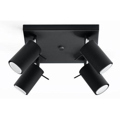 Sollux Oprawa sufitowa ring 4 czarny sl.0094 - - rabat w koszyku