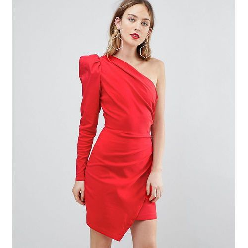 ultimate one shoulder structured mini dress - red, Asos tall