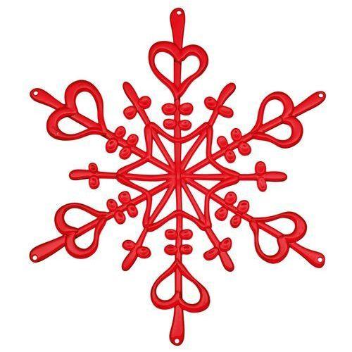 Ozdoba dekoracja świąteczna czerwona FLAKE L (do wyczerpania zapasów) KZ-1125536 (4002942234853)