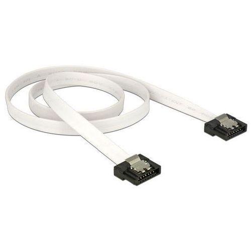 Delock  kabel sata data 50cm flexi 6gb/s biały darmowa dostawa do 400 salonów !! (4043619835041)