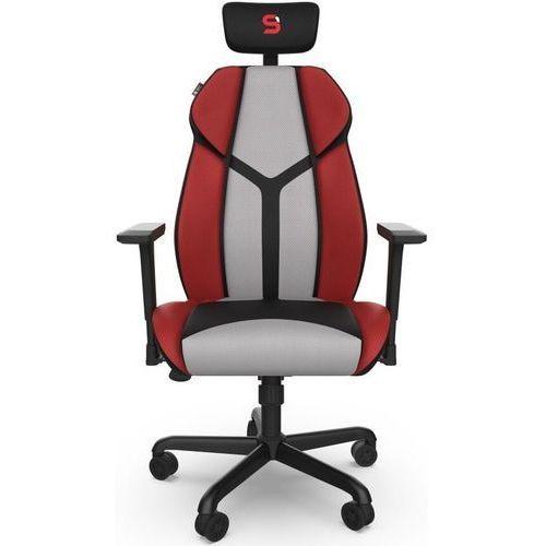 Fotel dla gracza SPC Gear EG450 CL czarno-czerwono-szary