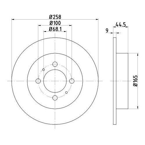 Textar - tarcza hamulcowa (zestaw) (4019722185397)