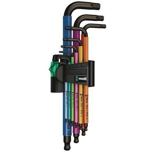 WERA 950 SPKL Multicolour Zestaw 9 kluczy trzpieniowych Hex-Plus z kulką (4013288180841)