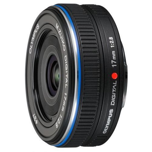 m. 17 mm f2.8 czarny obiektyw mocowanie micro 4/3 marki Olympus