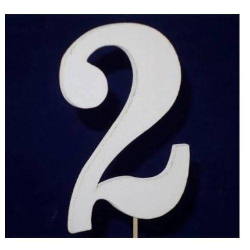 Cyfra drewniana na piku - nr 2 - 1 szt. marki Kal
