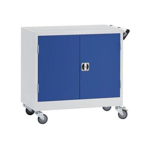 Szafa na kółkach, wys. x szer. x gł. 920x920x610 mm, niebieski gencjanowy, RAL 5