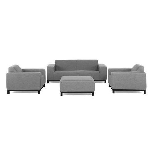 Beliani Meble ogrodowe szare - ottomana + 2 fotele ogrodowe + sofa - rovigo (4251682228824)