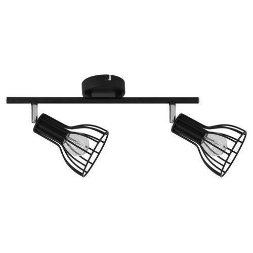 Spotlight Listwa lampa oprawa sufitowa spot light megan 2x60w e14 czarna 2743204