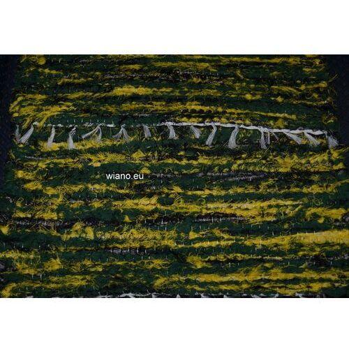 Chodnik bawełniany ręcznie tkany zielono-zółty 50x100 marki Spółdzielnia twórców ludowych