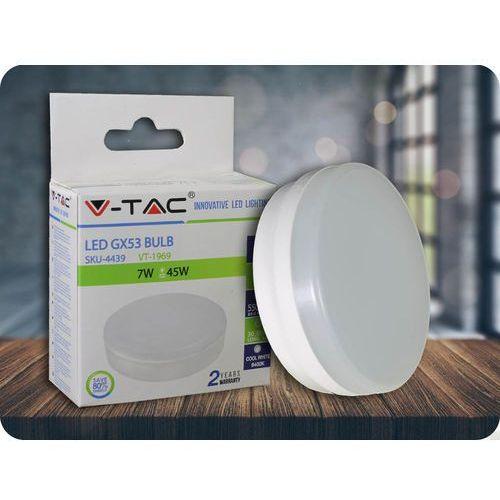 GX53 Żarówka LED 7W (550lm) + Bezpłatna natychmiastowa gwarancja wymiany! Zimna biała 6000K, 4439