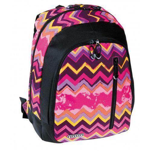 Starpak plecak szkolny zigzag różowy - 348770 szybka dostawa! darmowy odbiór w 21 miastach!