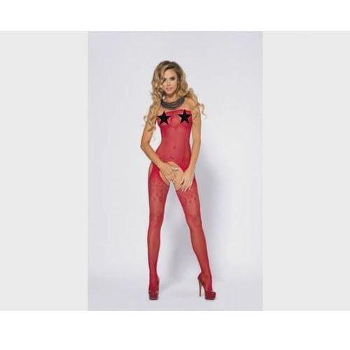 Bodystocking yoko red l/xl marki Anais apparel luxury (pl)