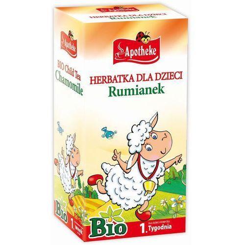 Apotheke (herbatki dla dzieci, dorosłych, błonnik Herbatka dla dzieci - rumiankowa bio 20 x 1 g