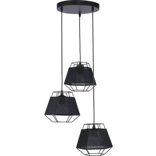 Lampa wisząca druciana zwis żyrandol diament TK Lighting Cristal 3x60W E27 czarna 1806, kolor Czarny
