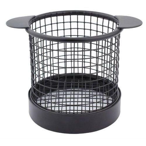 Koszyk na frytki czarny | 8(ø)x(h)8cm marki Olympia