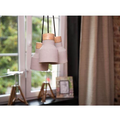 Lampa wisząca 3 klosze betonowa szara BAHT (4260580922529)
