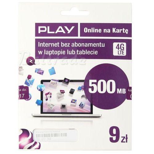 Starter Play Online LTE 9zł z kategorii Zestawy startowe i doładowania