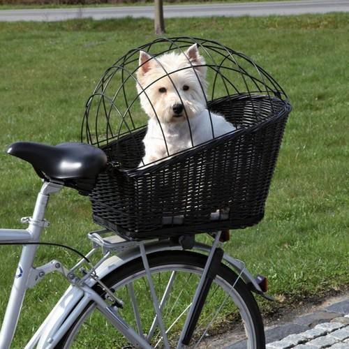 Trixie  kosz wiklinowy na bagażnik rowerowy czarny