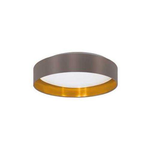 Plafon Eglo Maserlo 31625 z abażurem 18W LED ciemnoszary/złoty/biały, 31625