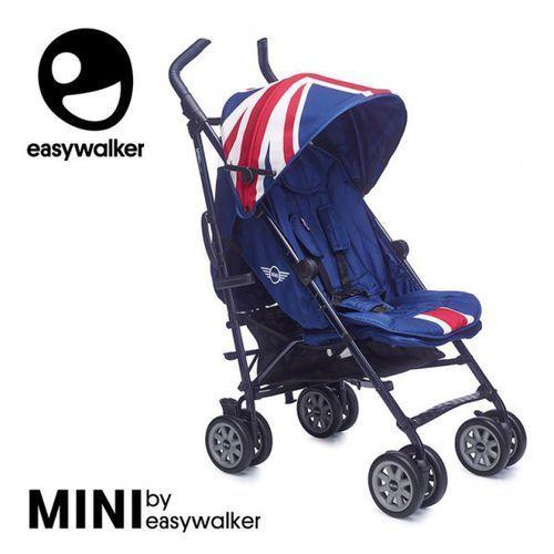 Easywalker Mini by wózek spacerowy z osłonką przeciwdeszczową xl union jack classic
