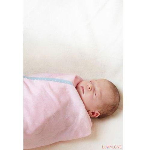 SupeRRO newborn pink - różowy kocyk/otulacz bambusowy 70x70 - LullaLove (5903240348046)