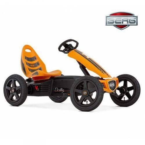 BERG Gokart Rally - Pomarańczowy Pompowane koła 4-12 lat do 60 kg